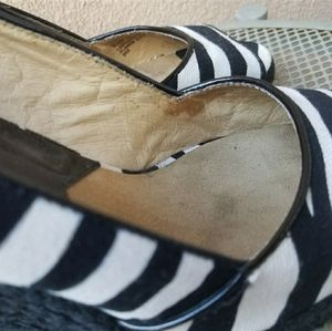 Michael kors wedge zebra Espradille shoes size 8